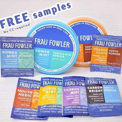 Free Frau Fowler Tooth Powder Sample