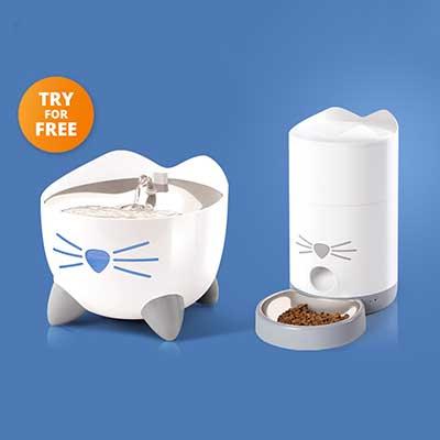Free Catit Pixi Smart Fountain and Feeder