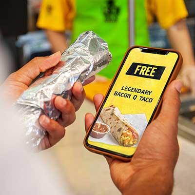 Free Bacon Q Taco at Laredo Taco