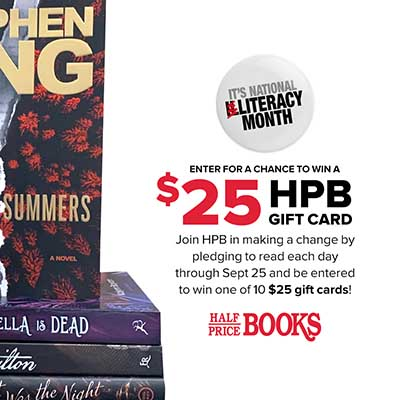 Free Half Price Books $25 Gift Card (10 Winners)