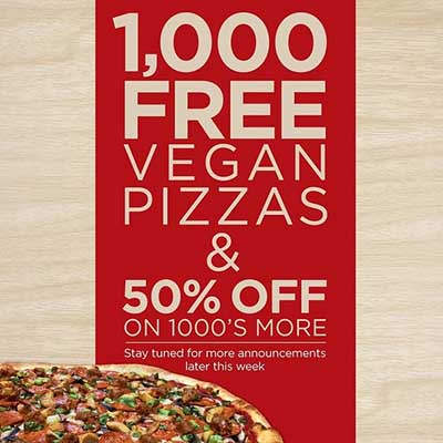 Free Vegan Pizza at Pizza My Heart