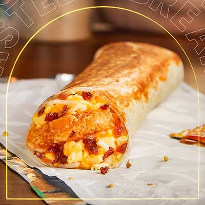 Free Toasted Breakfast Burrito at Taco Bell